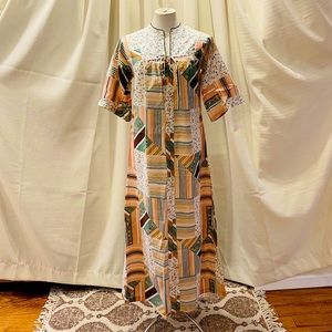 VINTAGE 1970's Kaftan Dress - Gilligan O'Malley